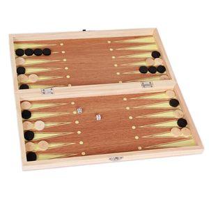 3-in-1-Faltbrett Klappbar Schach Spiel Schachspiel inkl. Schachbrett und Schachfiguren