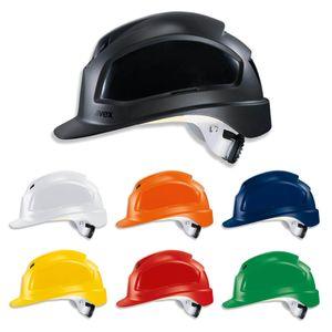 UVEX Schutzhelm pheos B-WR - Arbeitsschutz-Helm, Baustellenhelm, Bauhelm - EN 397 in verschiedenen Farben Farbe:schwarz