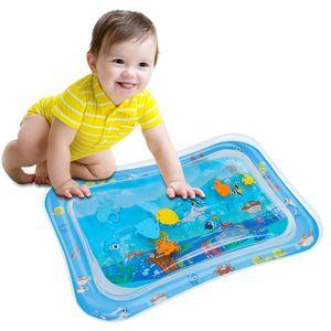 Wassermatte Baby, Baby Spielzeuge 3-6-9 Monate, Baby Wassermatte, Wasser-Spielmatte Baby, Aufblasbarer Kinderwasserpark(66*50cm)