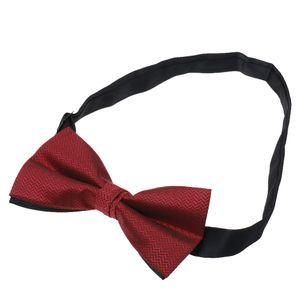 Männer einstellbare Hochzeit Prom Partei Fliege Rotwein Kräuselung Rotwein-Kräuselung 12x6cm Krawatte # 2