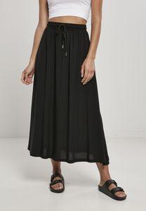 Urban Classics Damen Rock Ladies Viscose Midi Skirt Black-XS
