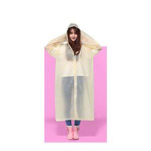 Durable Raincoat Regen Cape Poncho mit Hut-Haube für Frauen im Freien Reisen -(Gelb,)