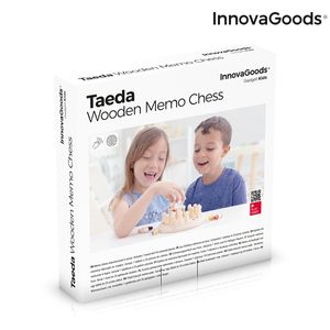 Memory-Schach aus Holz Taeda InnovaGoods 26 Stücke