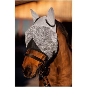 Kerbl Fliegenmaske mit Ohren-und UV-Schutz, schwarz, Warmblut