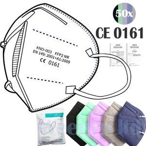 Atemschutzmaske FFP2 Maske, CE, Schutzmaske, 50 Stück (BUNT)