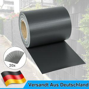 PVC Sichtschutzstreifen Zaunfolie anthrazit Sichtschutz Sonnenschutz 35M,Dunkelgrau