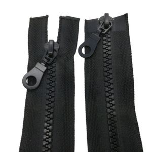 2-Wege Reißverschluss Kunststoff 5mm teilbar 100 cm Schwarz