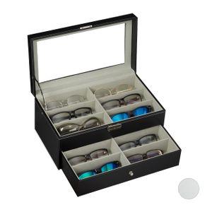 relaxdays Brillenbox für 12 Brillen