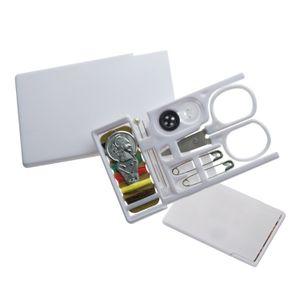 Nähset / im Scheckkartenformat / Farbe: weiß
