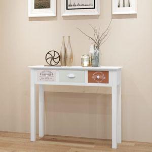【Neu】Konsolentische Konsolentisch Französischer Stil Holz Gesamtgröße:90 x 30 x 77 cm BEST SELLER-Möbel-Schränke-Sideboards im Landhaus-Stil