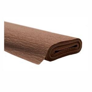 Creleo - Krepppapier braun 50x250 cm Rolle färbt nicht ab bei kontakt mit Wasser