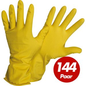 NITRAS 3220 Haushaltshandschuhe Größe 10 - velourisiert, Naturlatex, sicherer Griff - VPE 144 Paar Größe:10