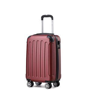 Reise Koffer Reise Koffer Hartschalenkoffer Trolley Reisekoffer M Weinrot Kofferset 4 Rollen Roll-Koffer Handgepäck