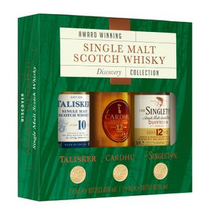 Whisky Explorer Pack Award Winning Single Malt Scotch Whisky Discovery Collection | Talisker 10 Jahre 0,05 l - Cardhu 12 Jahre 0,05 l - Singleton 12 Jahre 0,05 l | 40,0 % vol - 45,8 % vol | 0,15 l