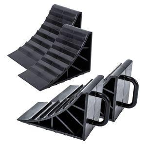 ProPlus Unterlegkeil Kunststoff schwarz 4er Set mit Griff