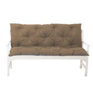 4L Textil Gartenbankauflage Bankauflage Bankkissen Sitzkissen Polsterauflage Sitzpolster (100x60x50, Braun)