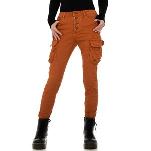 Ital-Design Damen Jeans Boyfriend Jeans Hellbraun Gr.36