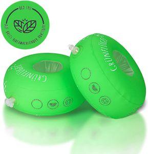 Grünflügel Schwimmflügel Kinder 3-6 Jahre (TPU, Schaumstoffkern, Keine Weichmacher, Hautfreundlich ) Schwimmhilfe Baby ab 1 Jahr oder 2 Jahre und mehr   Schwimmscheiben   Schwimmring   11-30kg