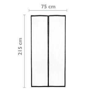PrimeMatik - Moskitonetz für Tür 75 x 215 cm Fliegengitter mit Magnetverschluss