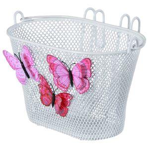 Basil Jasmin Butterfly Kinderkorb vorne Fahrradkorb Lenkerkorb weiß