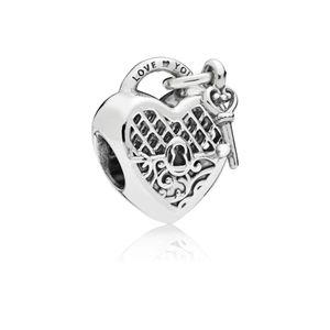 Pandora 797655 Charm Love You Lock Herz-Schloss Sterling-Silber
