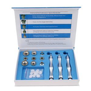 3 Stäbe 9 Tips Diamond Microdermabrasion Dermabrasion Ersatzspitze Stäbchen Set, Gesichtspflege Peeling Gerät für Exfolierung und Akne Entfernung