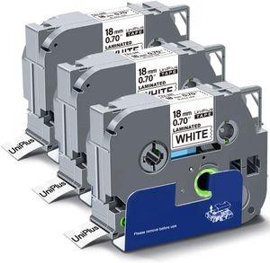 UniPlus 3x Kompatible Schriftband als Ersatz für Brother Tze-241 Tz241 18mm TZe Tape Schwarz auf Weiß für Brother P-Touch PT 1010 H105 H100LB H100 1000 D400 D600 D450 P750W P900W P950NW 1880