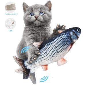 2 Stück Elektrisches Fish Katzenspielzeug USB-Ladesimulation Fisch Katzenspielzeug