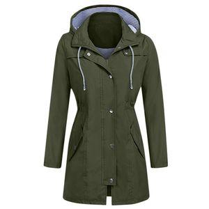 Frauen Solid Rain Jacke Outdoor Hoodie Wasserdichte Kapuze Regenmantel Winddichte Tops Größe:S,Farbe:Türkis