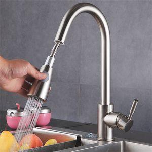 360° Küchenarmatur ausziehbar Wasserhahn & Brause Mischbatterie Küche Warm/Kalt