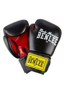 BENLEE Rocky Marciano Boxhandschuhe Uni – Erwachsene Rot-Schwarz, Größe:10 oz
