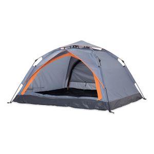 Where Tomorrow 3-Mann Zelt, 3-Personen-Zelt Campingzelt mit Doppeltür 210x190x110 cm