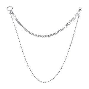 Dual Layer Metall Hose Kette Brieftasche Kette für Männer Frauen