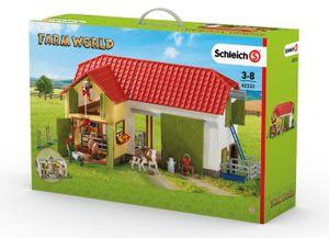 Schleich - Tierfiguren, Großer Bauernhof mit Tieren und Zubehör; 42333