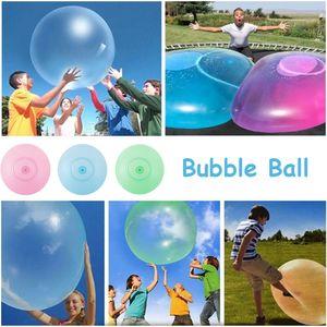 Sunnyme 120cm Große aufblasbare Kinder Adult Bubble Ball außerhalb Stretch Wasser Bubble Ball Sommer spielen Wasserballon Party Spiel Gelb