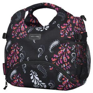 Sporttasche Damen KEANU Fitnesstasche Umhängetasche 18L Gym Yoga Tasche Bag Schwarz Paisley