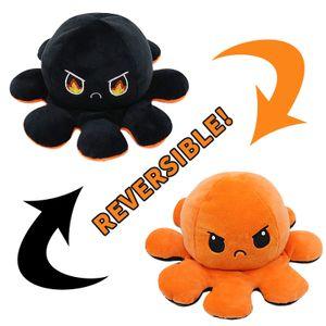 Doppelseitige Flip Octopus Puppe Plüschtier Niedliche Flip Octopus Puppe /Orange ,schwarz 10 * 20cm