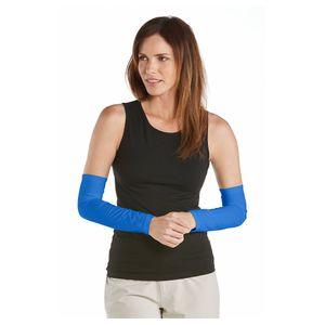Coolibar - UV-Armstulpen für Damen - Meeresblau, XS