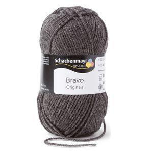 Schachenmayr Bravo, 9801211-08319, Farbe:Mittelgrau Meliert, Handstrickgarne