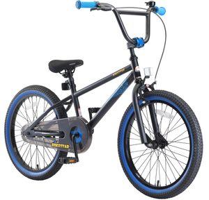 BIKESTAR Kinder Fahrrad ab 6 Jahre | 20 Zoll BMX Kinderrad | Schwarz & Blau