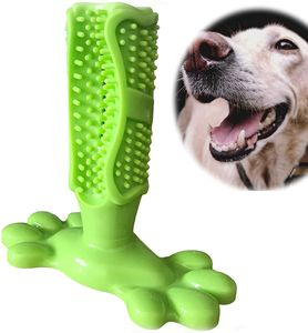 Hunde Zahnbürste Bürsten Hundezahnbürste Creme-Geschmack Stick Hundespielzeug Naturkautschuk Hund Kauen Zahnreiniger Welpen