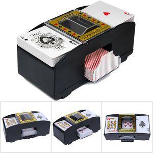 Miixia Automatische Poker Kartenmischmaschine Kartenmischer Kartenmischgerät Elektrisch
