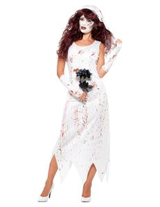 Damen Kostüm Zombie Braut Zombiekostüm Halloween Gr.S