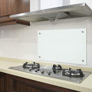 Bc-elec - AKG06-12052 Küchencredenza Matglas 120x50cm, gehärtetes Sicherheitsglas 6mm, Haubenboden