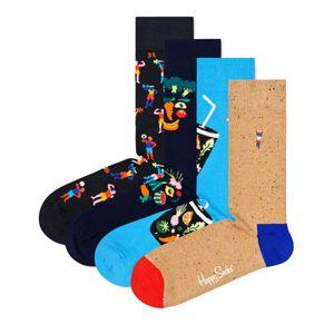Happy Socks Geschenkbox HEALTHY LIFESTYLE SOCKS GIFT SET 4-PACK XHEL09-0200 Mehrfarbig, Size:36-40