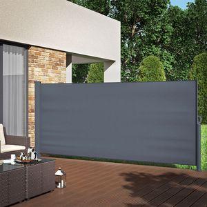 Seitenmarkise Sichtschutz 160x350cm Sonnenschutz Seitenrollo Markise Anthrazit