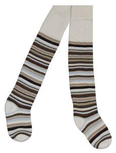 Tobeni 2 Paar schöne warme Thermo Strumpfhosen für Mädchen und Jungen, Farbe:Natur, Grösse:74-80