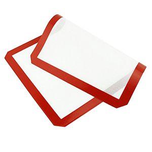 Silikon-Backmatte Antihaft-hitzebeständige Liner Ofenblech Matten 42x29.5cm