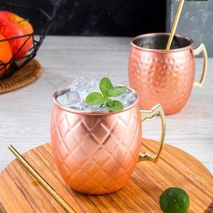 1 paar Moscow Mule Becher Kupferbecher Moskau Mule Cocktailkrug Kupfer Tassen