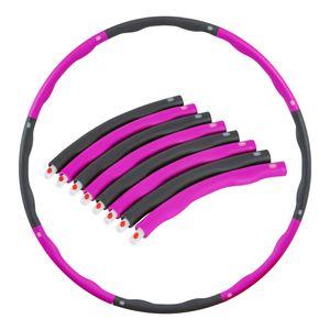 Hula Hoop Reifen Fitness Bauchtrainer Schaumstoff Fitnesstraining 8-teilig Pink